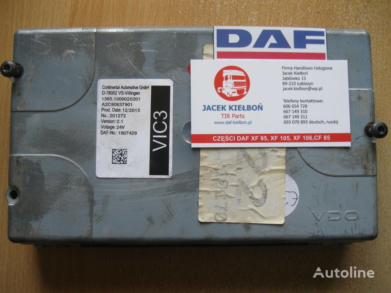 τράκτορας DAF XF 106 για μονάδα ελέγχου Continental STEROWNIK VIC 3