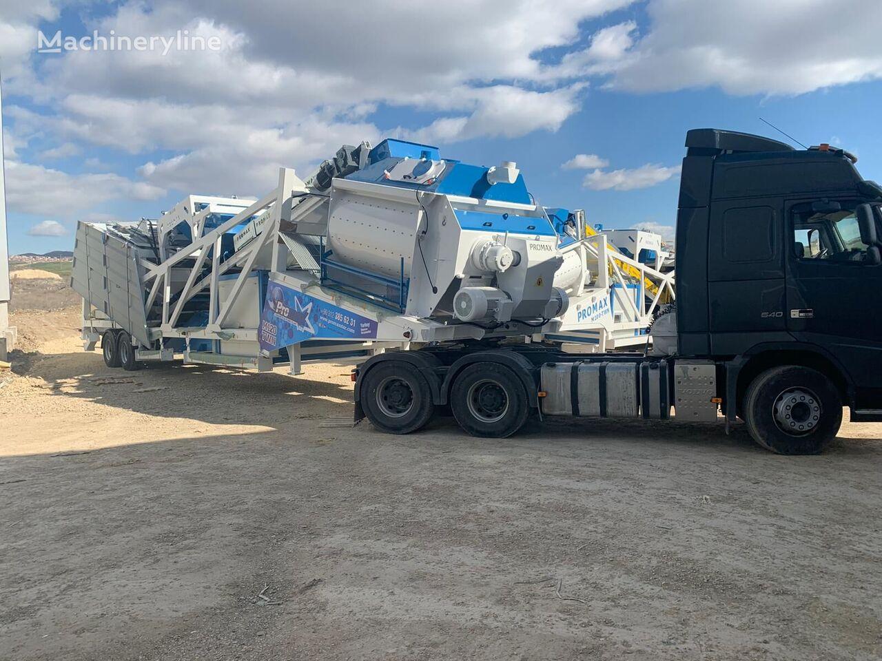 καινούριο εργοστάσιο σκυροδέματος PROMAX Mobile Concrete Batching Plant M120-TWN (120m3/h)