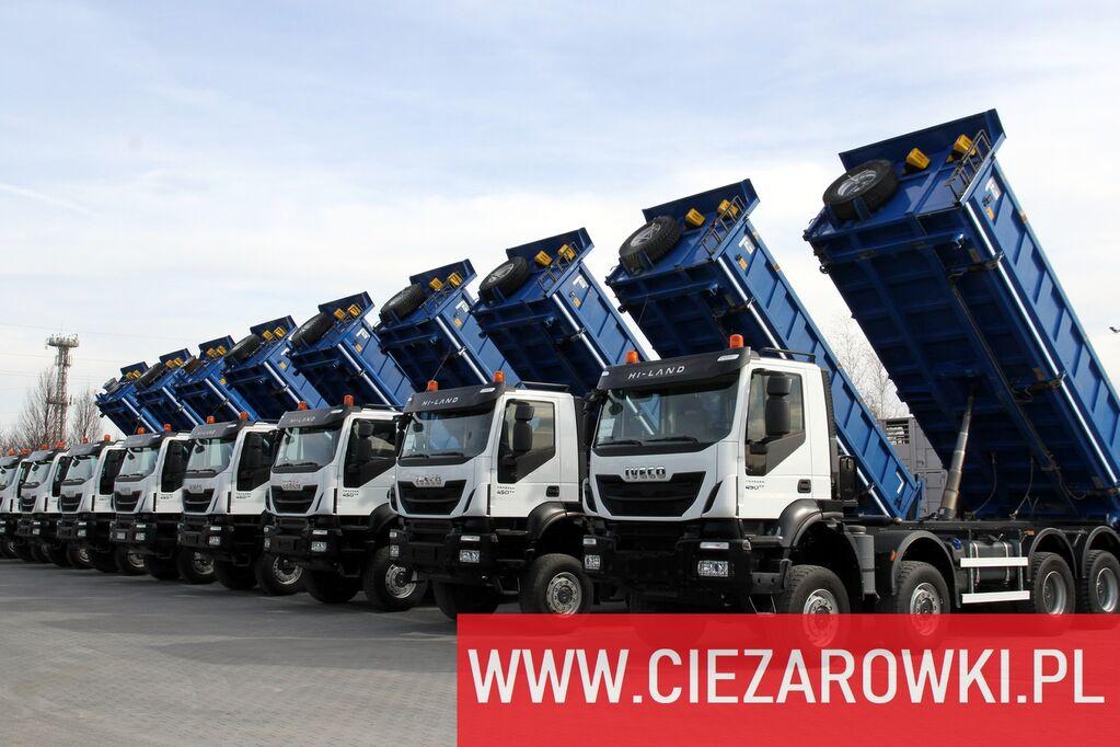 ανατρεπόμενο φορτηγό IVECO Trakker 450 , E6 , 8x8 , 3-side tipper , retarder 5 UNITS FOR S