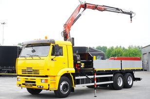 φορτηγό καρότσα KAMAZ 65117 , 6x4 , Crane Fassi 95 , rotator , box 6m
