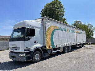 φορτηγό με καρότσα κουρτίνα RENAULT Premium 420 + ρυμουλκούμενο κουρτίνα