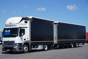 φορτηγό με καρότσα κουρτίνα MERCEDES-BENZ ANTOS / 1840  / E 6 / ZESTAW  120 M3 / 39 PALET / ŁAD. 21 460 KG + ρυμουλκούμενο κουρτίνα