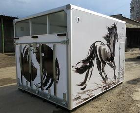 καινούριο φορτηγό μεταφοράς αλόγων ИСТОК