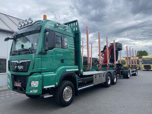 φορτηγό μεταφοράς ξυλείας MAN TGS 33.500 + ρυμουλκούμενο μεταφοράς ξυλείας