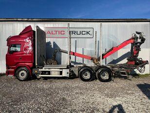φορτηγό μεταφοράς ξυλείας SCANIA R580, 6x4 + CRANE, EURO6, RETARDER