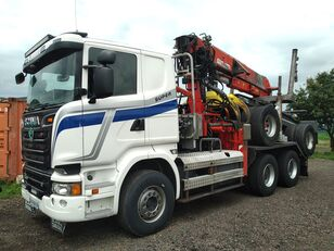 φορτηγό μεταφοράς ξυλείας SCANIA R580 V8 with JONSERED 2490 and trailer DOLL + ρυμουλκούμενο μεταφοράς ξυλείας