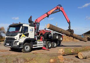 φορτηγό μεταφοράς ξυλείας VOLVO FMX 540 6X4 FAYMONVILLE PALFINGER EPSILON