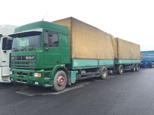 φορτηγό μουσαμάς DAF 95.430 ATI EURO2 + SCHARZMULLER + ρυμουλκούμενο μουσαμάς