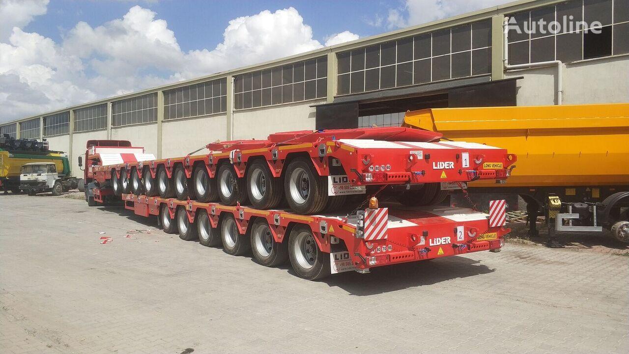 καινούρια ημιρυμουλκούμενη πλατφόρμα με χαμηλό δάπεδο LIDER 2021 model 150 Tons caapcity Lowbed semi trailer